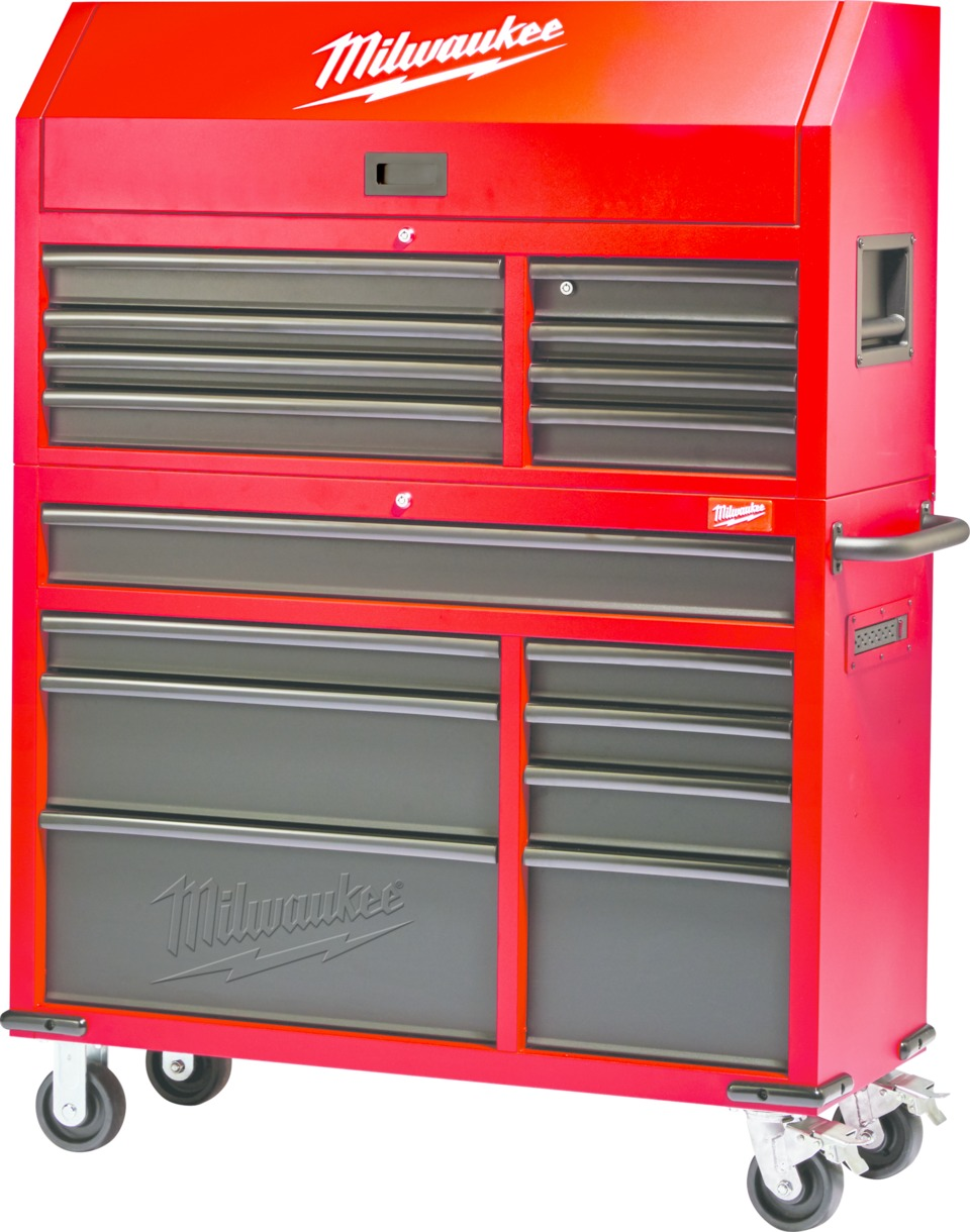 Milwaukee Electric Tool Corp. 46u201d Steel Storage Chest And Cabinet In Tool  Storage
