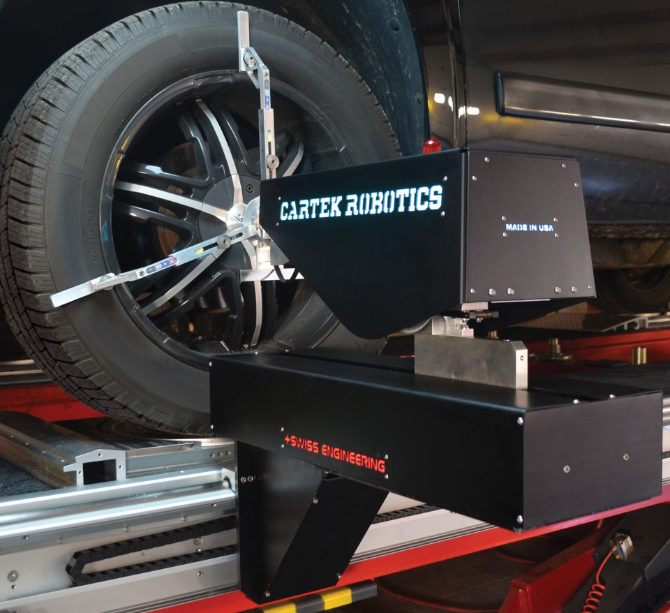 Cartek Group Cartek Robotics Advanced Wheel Alignment System In Tire