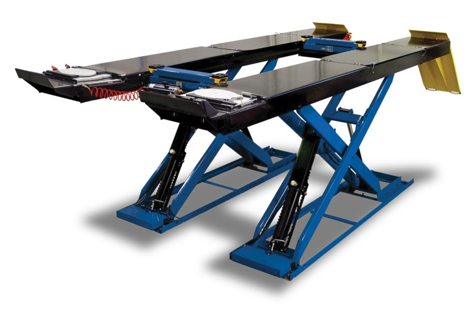 Automotive Lift Equipment : Snap on equipment k scissor alignment lift surface