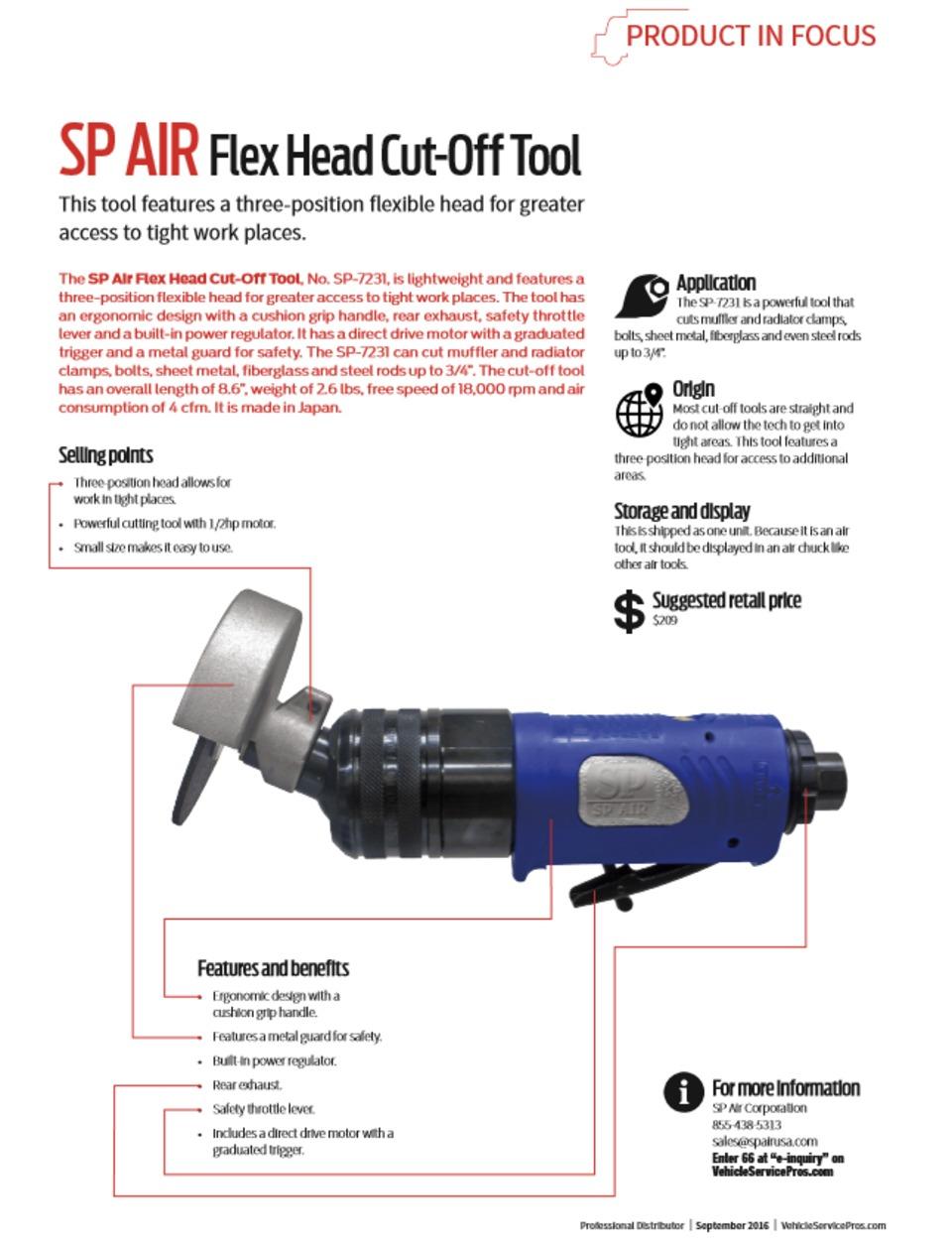Product In Focus PDF: SP Air Flex Head Cut-Off Tool