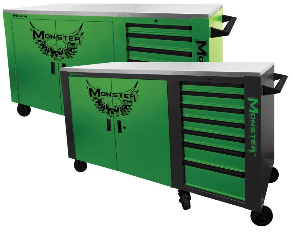 Monster 72 Cart Locker And 35 Flip Top Service Cart