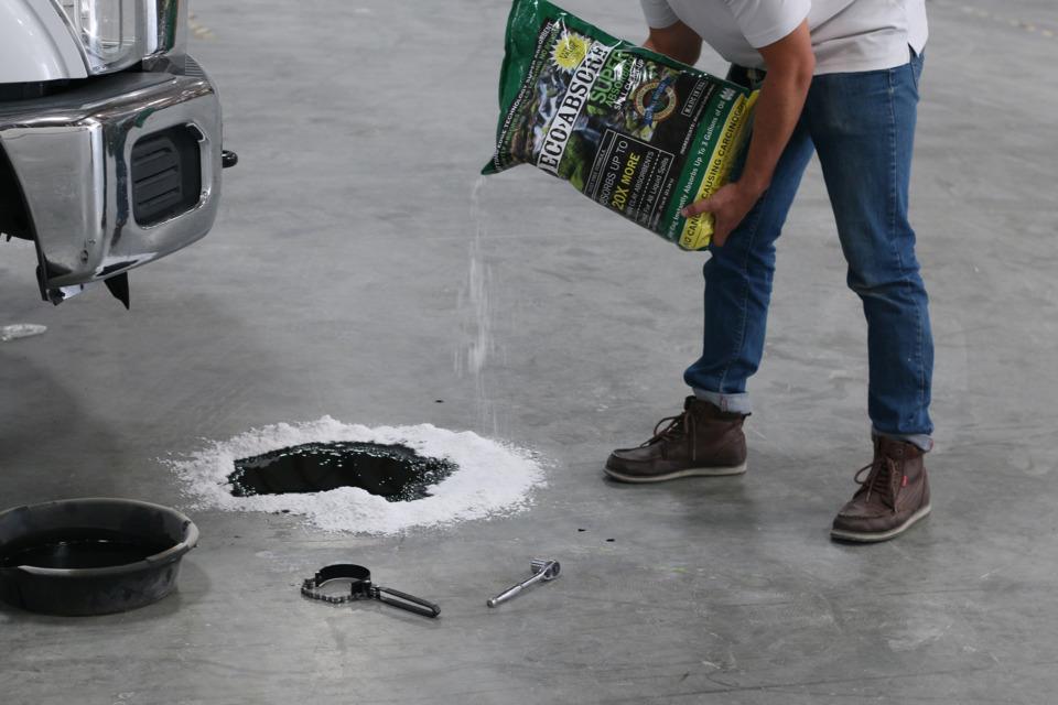 simplify vehicle maintenance  repair shop spill cleanup