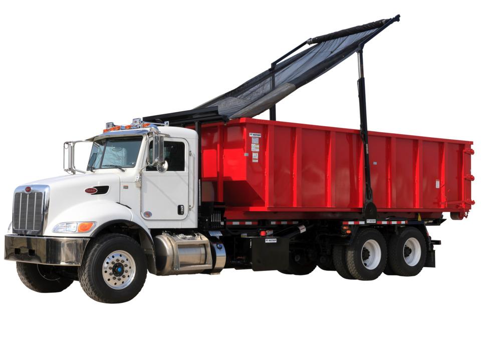 Wastequip Rack N Pinion Tarping System In Work Truck