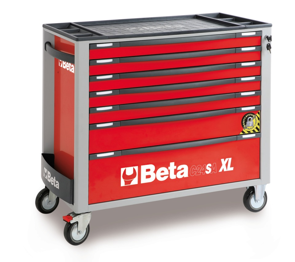 At 40u201d Long By 18u201d Wide, The Beta Tools C24SA XL/7 Mobile Roller Tool  Cabinet Features Seven Drawers With Ball Bearing Slides In An Extra Wide  Model.