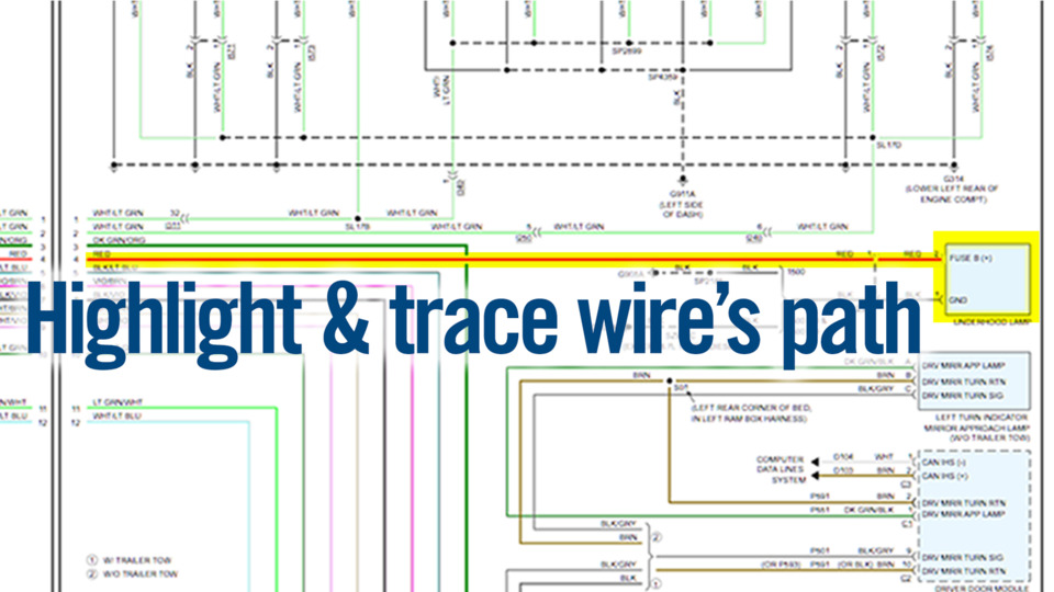 Alldata updates color wiring diagrams to include both non-OE and ...