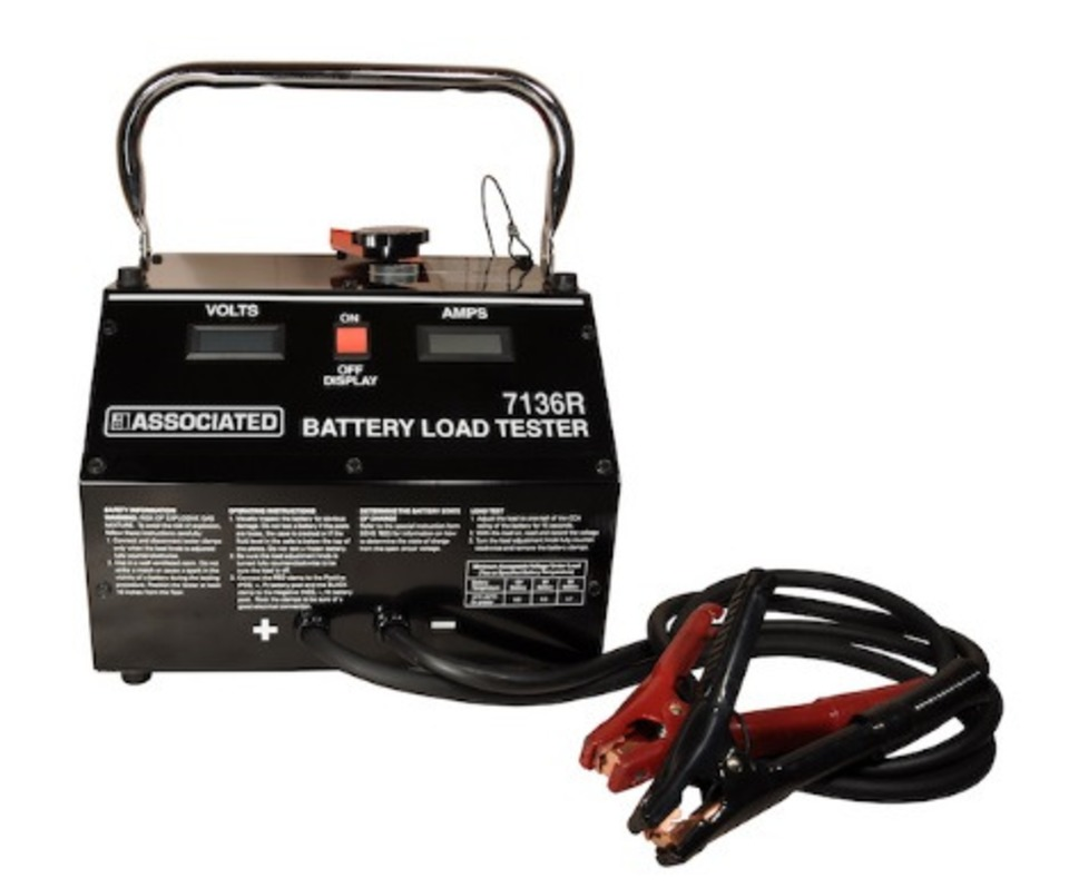 Associated Battery Tester : Associated equipment model r digital carbon pile