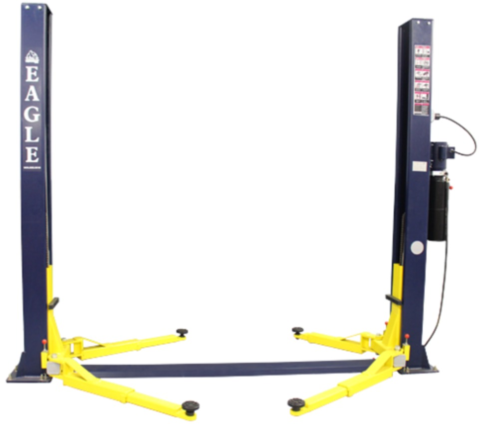 The Eagle Equipment 9 000 Lb Symmetric Mechanix 2 Post Car Lift Is Designed For Lifting Cars And Light Trucks This Features A Height Of Little