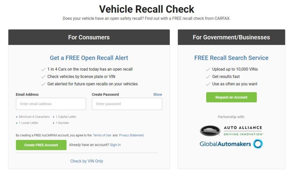 Report Finds 57m Vehicles In U S Have Open Recalls