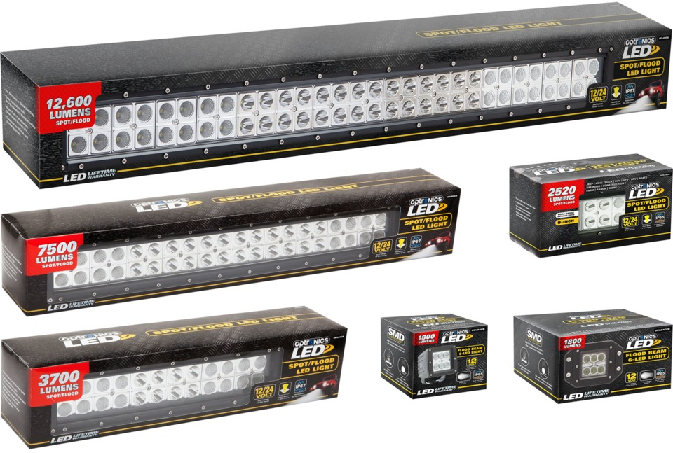 Optronics international led light bars in vehicle lighting the optronics led light bars can be used for scene lighting and a variety of auxiliary lighting applications with sizes and outputs ranging from 1800 to aloadofball Images