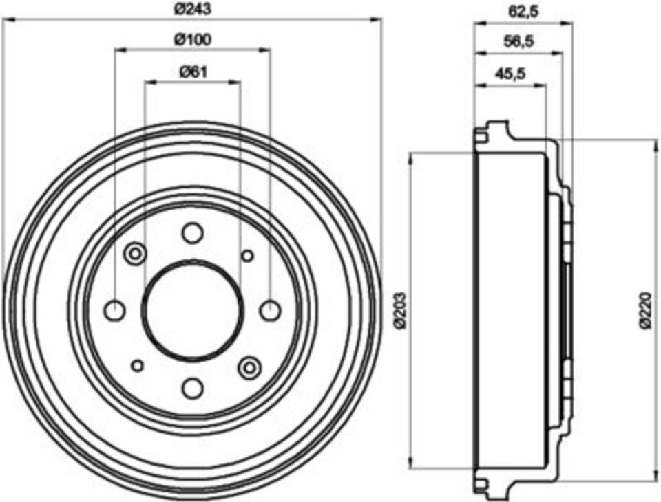 hella pagid 355300231 brake drum