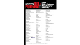 2007 Tool & Equipment Manufacturer's Directory