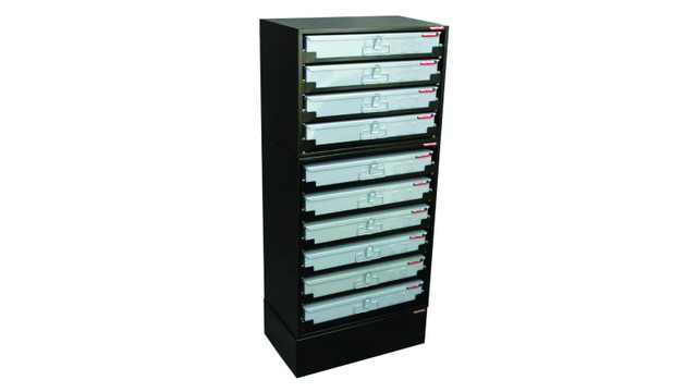 Ten Drawer Service Tray Rack System