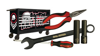 Line of Metal Mulisha hand tools and accessories