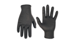 CLC Black Nitrile Disposable Gloves