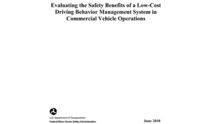 Evaluating the Safety Benefits of a Low-Cost Driving Behavior Management System in Commercial Vehicle Operations