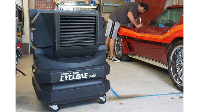 Cyclone 3000 evaporative cooling unit