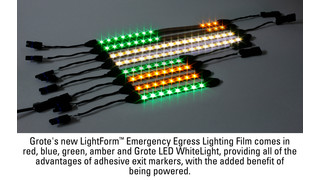 Grote introduces LightForm emergency egress lighting film