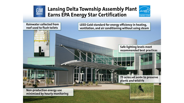 Efficient GM plant receives EPA Energy Star certification