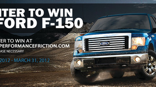 Performance Friction announces Ford F-150 giveaway