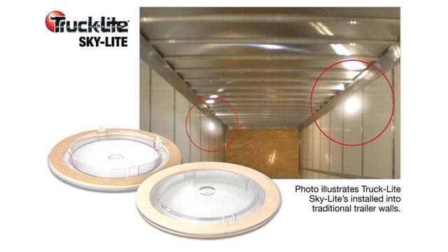 Truck-Lite utilizes sunlight for added interior trailer lighting