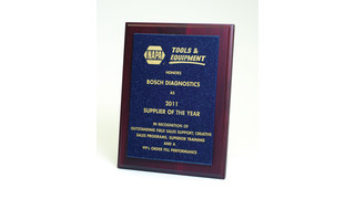 Bosch Diagnostics named 'NAPA Tools and Equipment Supplier of the Year' for 2011