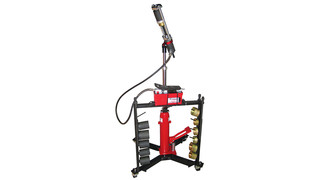 Mobile Hydraulic Press Tool with Air Powered Hydraulic Pump No. 11000A