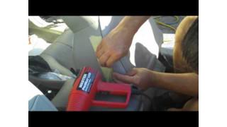Vinyl Car Seat Repair with Heat Gun