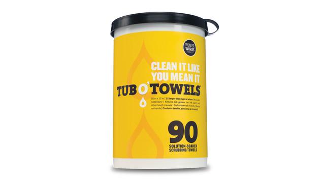Tub O'Towels Cleaning Towels