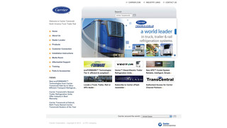 Carrier Transicold enhances website