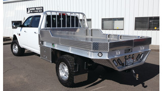 Strongback Aluminum Truck Flatbed