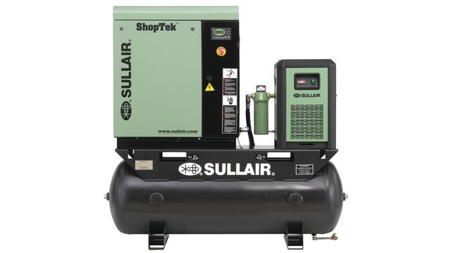 ShopTek lubricated rotary screw air compressor