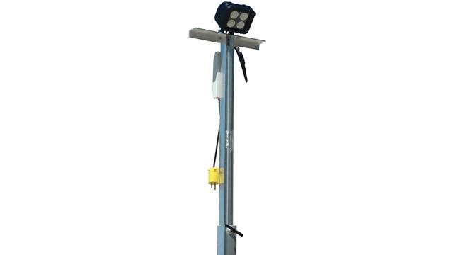 High Power LED Work Light with Four Leg Aluminum Tower No. WAL-QP-P10W-40X2E-25