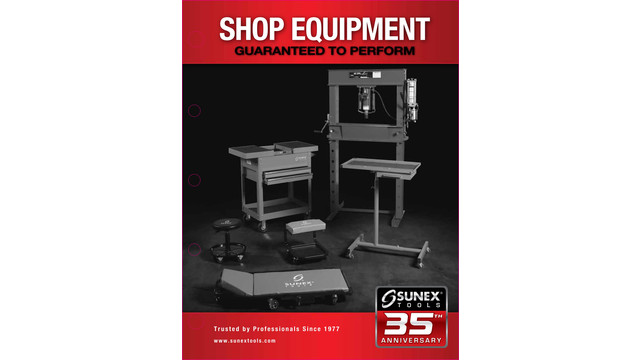 Sunex 2012 Shop Equipment Product Catalog