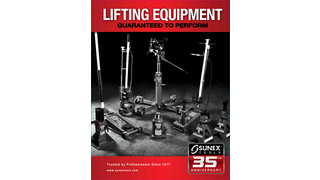 Sunex 2012 Lifting Equipment Product Catalog