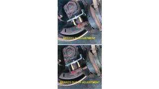 Brake Safe brake stroke indicator system