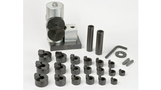 Tapered wrist pin bushing press kit