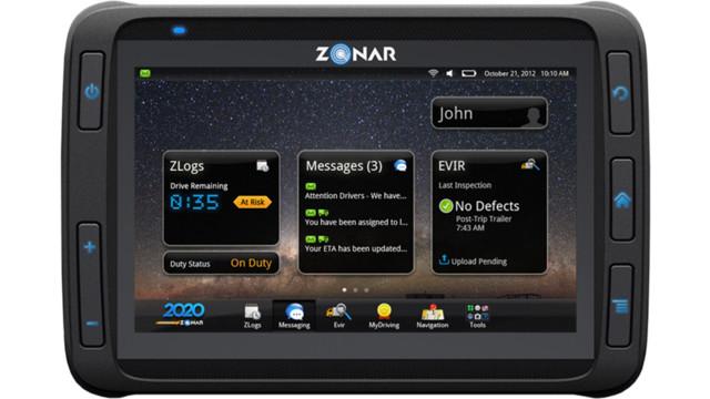 Zonar introduces the 2020 telematics tablet