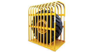 Earthmover and agricultural tire inflation cage