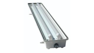 Explosion-proof LED emergency light, No. HALP-EMG-48-2L-LED