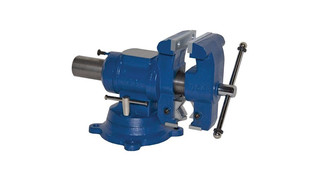 Multi-jaw rotating and combination pipe and bench vise, No. 750