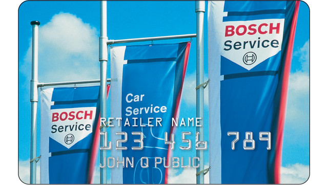 Bosch service credit card drives motorists to network shops