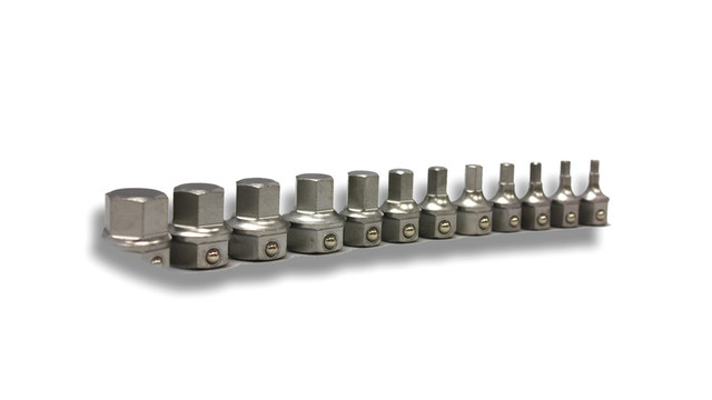 Metric hex bit set, No. HM1000