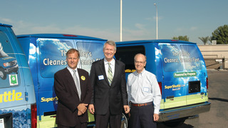 Roush and Ferrell Autogas celebrate 75th alternative fuel vehicle delivered to SuperShuttle