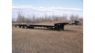 50-ton traveling axle trailer shown at American Towman Exposition