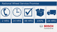 Bosch National Wheel Service Promise and technical support hotline win strong customer support