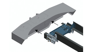 T370 front frame assembly