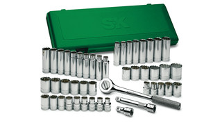 47-Piece 1/2 Drive 12-Point Standard and Deep, Fractional and Metric Socket Set No. 4147