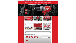 Milwaukee tool updates their website