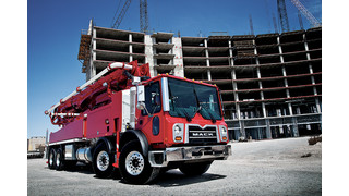 Mack MP8 engine now available in Mack TerraPro concrete pumper