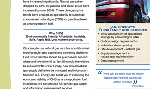 U.S. Energy Services helps fleet operators convert to CNG as a transportation fuel